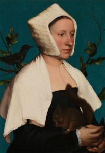 Фон « Дама с белкой» работы Ганса Гольбейна Младшего был написан азуритом