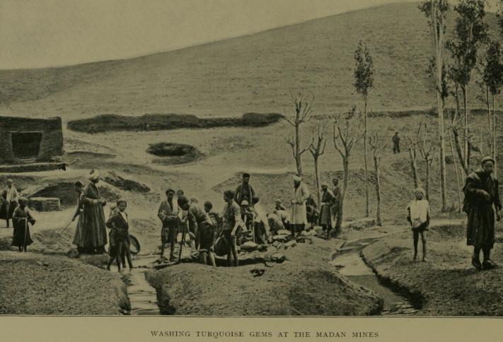 Ранняя бирюзовая шахта в Мадане, провинция Хорасан , Иран