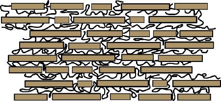 Схема микроскопической структуры слоев перламутра