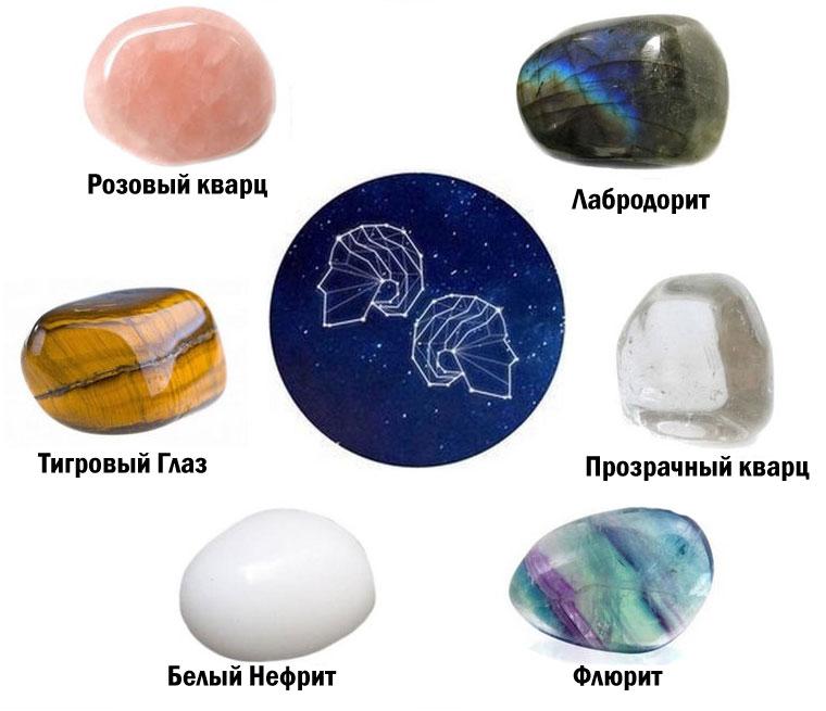 Камни подходящие близнецам