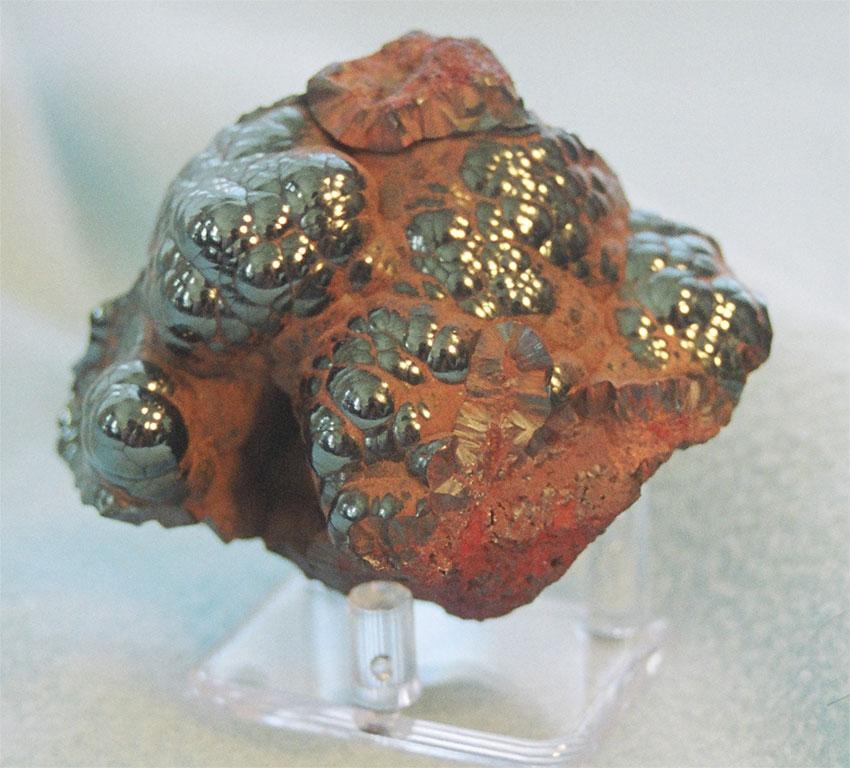 Разновидность гематита «красная стеклянная голова». Мичиган, (США)