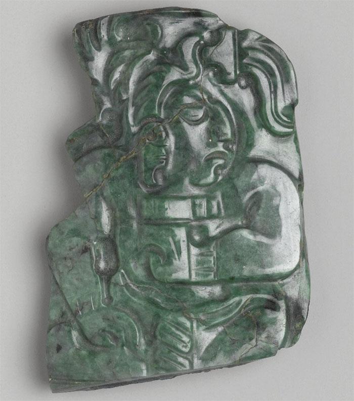 Жадеитовая доска майя , 600–900 гг. Н. Э., Бруклинский музей.
