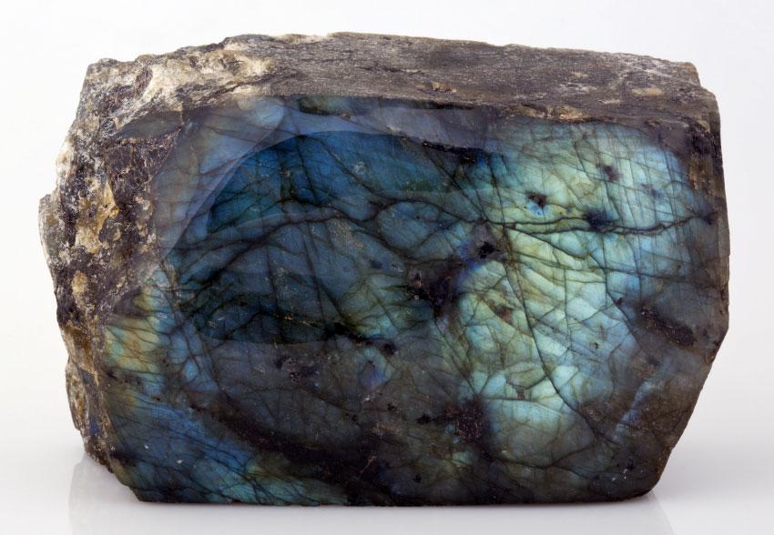 Полированный лабрадорит из коллекций UCL Geology