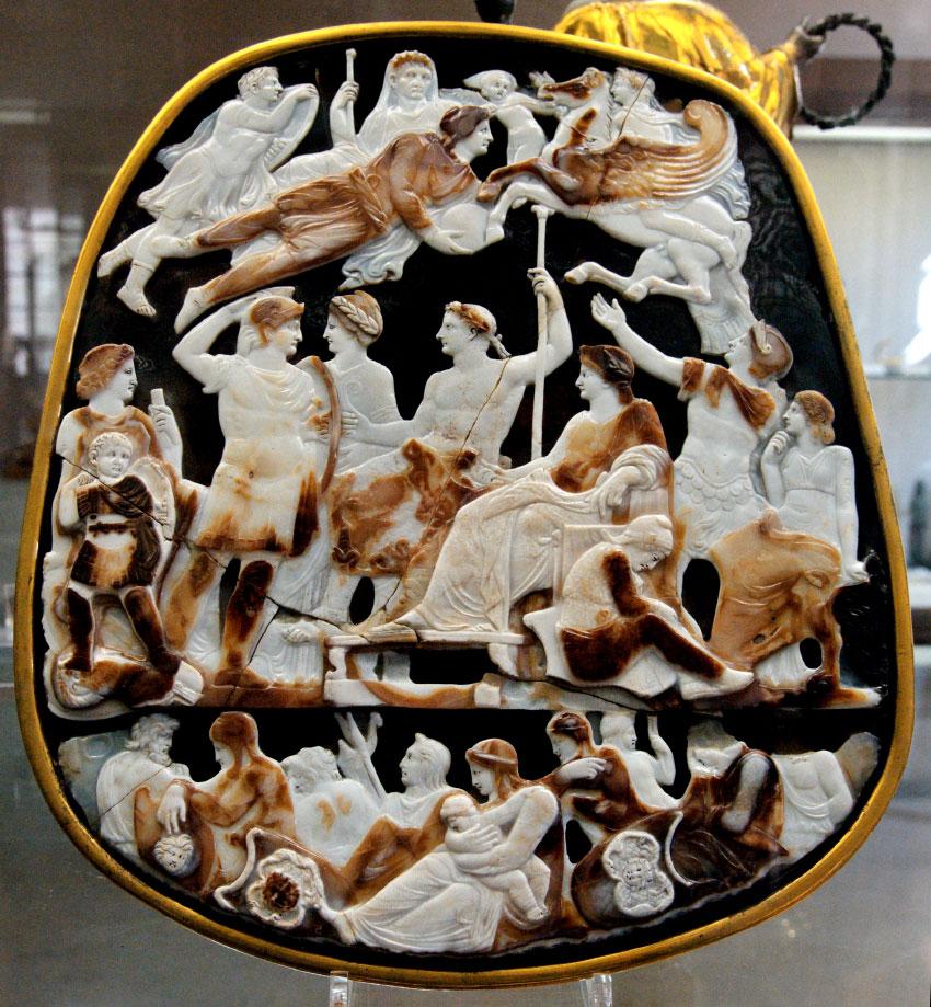 Большая камея Франции. 23 г. н. э.