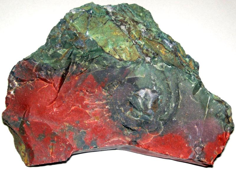 Кровавый камень разновидности яшмы, происхождение сомнительно, возможно, Деканские траппы Индии